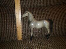 âš¡Vintage Hartland Plastics Grey Arabian Horse Standing 1960s Figure Black Mane
