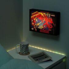 SNES Super Nintendo METROID luminart Nuit Lampe Brillant Image NEUF