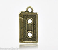 20 Bronze Tone Tape Charms Pendants 23x12mm