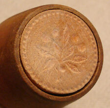 Butter Pat Mold Small Wooden Plunger with Light Floral Pattern