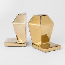 "Decorative Bookend - Gold - 9"" x 6.5"" - Room Essentials - Open Box"