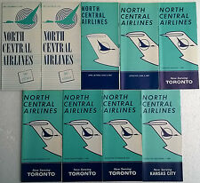 North Central Airlines timetable lot of 9 1967 complete year [4111]