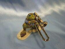 Hagen Renaker Trombone Player Frog 3251 Figurine Miniature FREE SHIPPING NEW