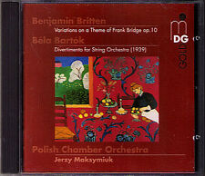 Britten Bridge variations Bartok divertimento 1939 Jerzy Maksymiuk MDG ORO CD
