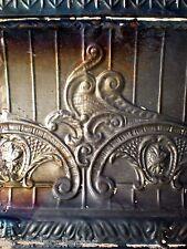 SALE Antique Victorian Ceiling Tin Tile Nouveau Pie Cupboard Chic Torch Fleur De