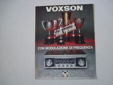 advertising Pubblicità 1966 AUTORADIO VOXSON INDIANAPOLIS