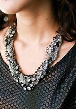 Fashion Statement Chunky Gun Black Chain Crystal Choker Necklace Charming