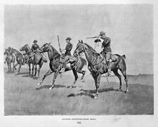 FREDERIC REMINGTON CAVALRY HORSES, EXTENDED-ORDER DRILL