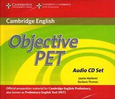 CAMBRIDGE Objective PET PRELIMINARY ENGLISH TEST Audio CD Set SECOND Edition NEW