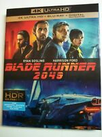Blade Runner 2049 w/Slipcover (4K Ultra HD, Blu-ray, Digital) NEW