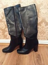 BNWT🌹Next🌹Size 5 / 38Black Knee High Block Heel Faux Leather Boots RRP £55
