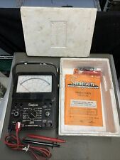 Vintage Simpson 260 Series 7 And 7m Volt Ohm Milliammeters With Manual Amp Leads