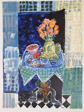 Lithografie Wendy Chazin - Bouquet sur la Table