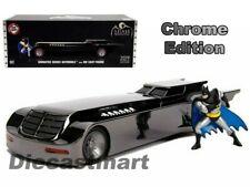 Batmobile Animated Series With Figure Chrome Comic Con Edition 1 24 Jada 30700