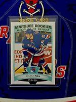 ADAM FOX RC 2019-20 Series 2 OPC Update Marquee Rookies Hockey # 622 NY Rangers