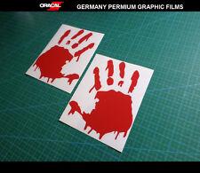 Pair of Zombie Handprints BIOHAZARD Resident Evil car decal VINYL Sticker
