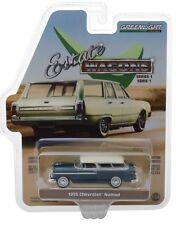 1:64 GreenLight *ESTATE WAGONS 1* BLUE 1955 Chevrolet Nomad *NIP*