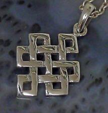 kleiner keltischer Unendlichkeit  Knoten Glücksamulett 925 Silber  Buddhaknoten