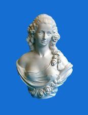 BUSTO IN GESSO -Donna- (Prodotto laccato bianco)