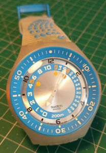 Swatch Scuba Blue and Silver