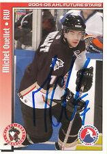 MICHEL OUELLET PENGUINS AUTOGRAPH AUTO 04-05 AHL FUTURE STARS #56 *21748