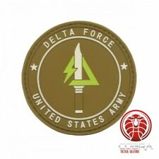 Delta Force | United States Military 3D PVC Badge brown with velcro