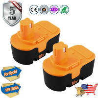 2Pack Replace Battery for Ryobi 3.0Ah 18V ONE+ P100 P102 ABP1801 13022 18 Volt