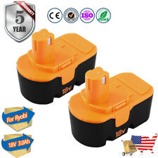 2-Pack Replace Battery for Ryobi 3.0Ah 18V One+ P100 P102 Abp1801 13022 18 Volt