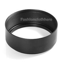 72mm Thread Mount Metal Lens Hood For Nikon Canon Sony Olympus  Panasonic Black