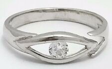 Adjustable *Brand New in a gift Box* White Sapphire Toe Ring 14k Solid Gold -