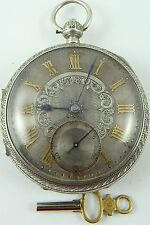 Argent Antique Dial FUSEE Pocket Watch JOHN FORREST London 1897 in (environ 4818.38 cm) working order