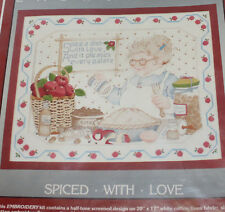 Cathy Needlecraft Embroidery Kit Grandma Baking Apple Pie Spiced With Love New