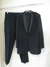 AFTER SIX  Rudofker black mens Tuxedo suit lot jacket pants bowtie cummerbund 44