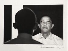 Barack Obama original black and white photo signed editioned by photographer