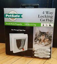 """New listing Petsafe 4 Way Locking Cat Flap Size Small 1-15Lb 8-7/8"""" x 8-78"""" Nib"""