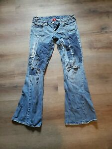 True Religion Jeans Bell bottom Size 29 X  30 Length  Distressed