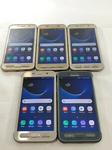 LOT of 5 Samsung Galaxy S7 Active G891A GSM Unlocked Smartphone Assorted  #A095L