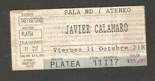 Argentina Nd Ateneo Concert Javier Calamaro Ticket Stub