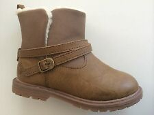 New Girls/Toddler Oshkosh B'gosh TESS-G Moto Brown Boots Shoes Size 6