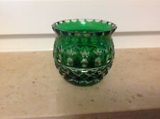 Römer Kristall Glas grün Edel  Verarbeitet 8 cm X 8 cm