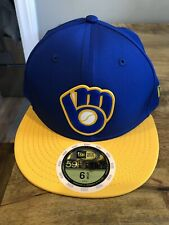 Milwaukee Brewers New Era Pro Light fitted hat Youth NWT 2018
