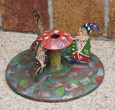 Vintage Metal Christmas Tree stand - Dwarfs - first half 20th century (# 3382)