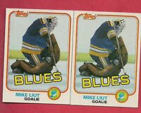 (2) ST LOUIS BLUES MIKE LIUT 1981-82  TOPPS  # 20 NRMT  CARD