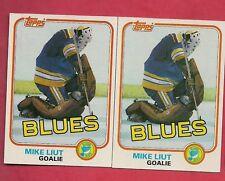 (2) ST LOUIS BLUES MIKE LIUT 1981-82  TOPPS  # 20 NRMT  CARD