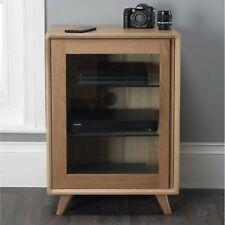 Narven Solid Oak Living Room Furniture Entertainment Audio Hi-Fi Cabinet