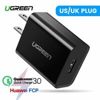Ugreen Quick Charge 3.0 QC 18W US UK USB Charger Fast Charger For Samsung iPhone