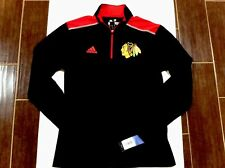 Chicago Blackhawks Adidas 1/4 Zip Pullover Authentic Collection Small or Medium