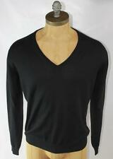 AUTH Gucci Men Black V Neck Wool Sweater M