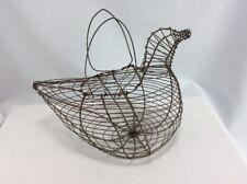 Rustic Egg Basket Large Bird Chicken Egg Wire Basket Country Home Kitchen Decor