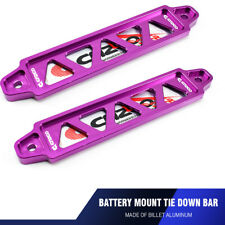 2PCS Purple Universal 19.5cm Auto Car Battery Tie Down Bar Stand Billet Bracket